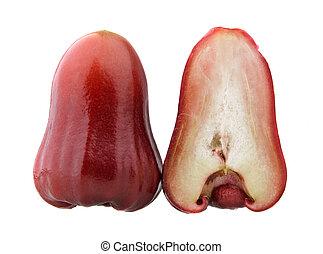 rosÈ, metade, maçãs, vermelho, um