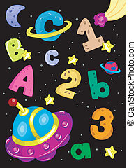 Outer Space Alphabet