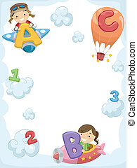 Stickman Pilots - Illustration of Kids Riding Planes...
