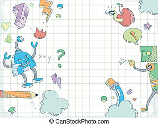 Education Doodle Background - Doodle Background Featuring...