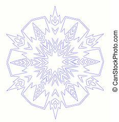 snowflake - blue snowflake on white background