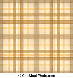 yellow brown checked fabric seamless pattern. computer...
