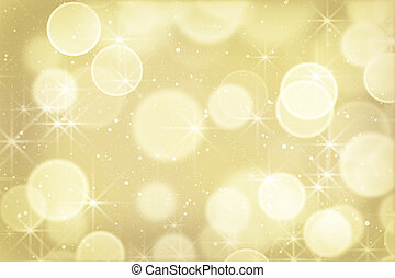 gold bokeh lights and particles. Computer generated abstract...