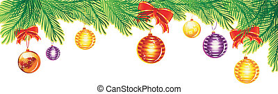 Christmas banner - Vector illustration of Christmas banner