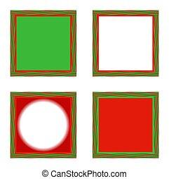 óptico, ilusão, feriado, bordas