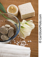 welness products - spa. welness products - bar of soap,...