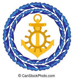 Anchor and wheel
