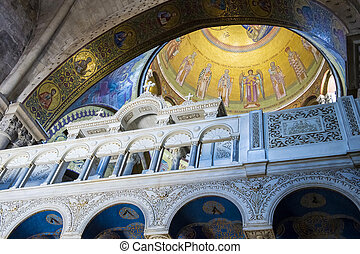 Holy sepulcher - Interior of the church of the Holy...