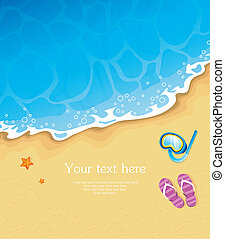 Summer tropical banner - Vector illustration of Summer...