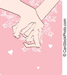 human hands with heart