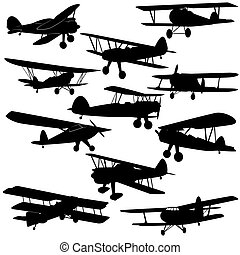 Vintage aircraft - The contours of old aircraft and...