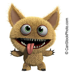 3d cartoon freak - furry gremlin