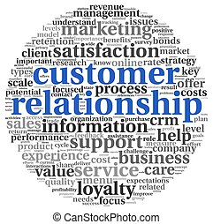 Customer relationship concept on white - Customer...