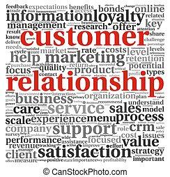 cliente, relación, concepto, blanco