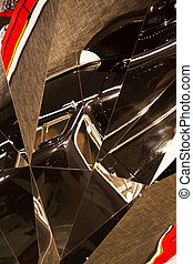 abstract distortion in glass