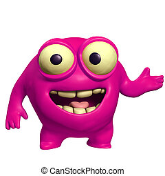 pink cute monster