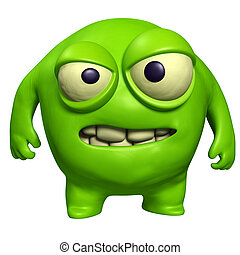 Halloween, verde, monstruo