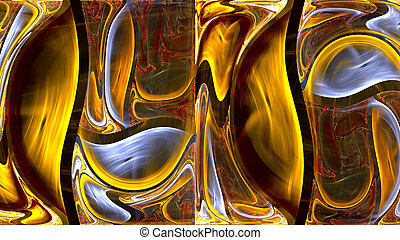 Yellow Background - Fractal yellow background.