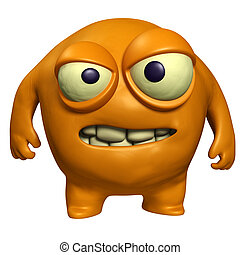 halloween orange monster