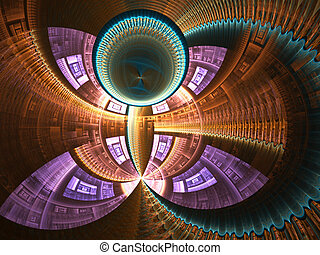 Cathedral Dome - A stunning fractal representing a cathedral...