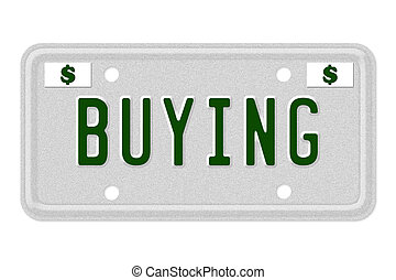 Buying Car  License Plate