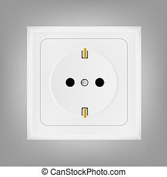 electrical outlet vector illustration