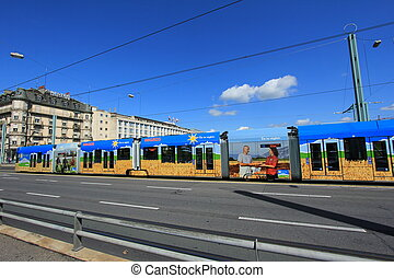 tramway and sky blue