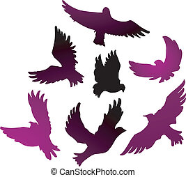 Birds - Vector illustration of Birds