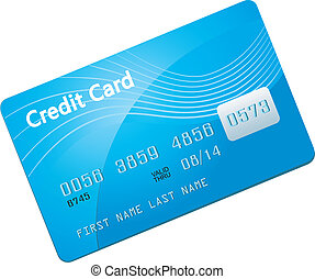 Credit Card Icon Isolated on white