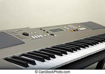 electronic piano keyboard closeup