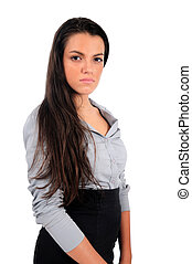 Isolated business woman - Isolated young business woman...