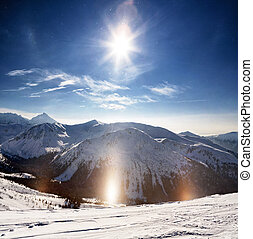 Polish Tatras - Crystalline snow sparkles in the winter sun...
