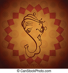 indian god ganesh - artistic indian god ganesh illustration