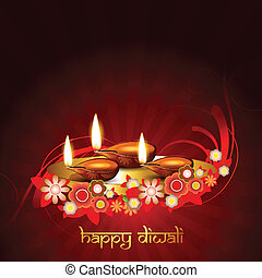 stylish vector diwali background - stylish artist diwali...