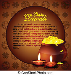 diwali background - beautiful diwali vector backgorund with...