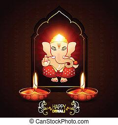 indian god ganesha on beautiful background