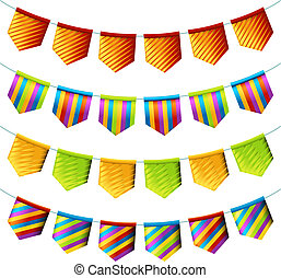 Bright bunting flags