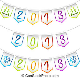 2013 design bunting flags
