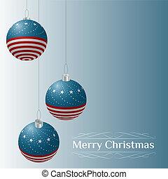 Patriotic theme Christmas card