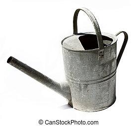 Rustic metal watering can - Rustic old metal watering can