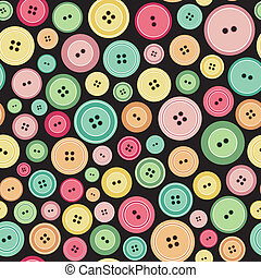 Colorful Sewing Buttons As Seamless Pattern