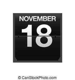 Counter calendar november 18. - Illustration with a counter...
