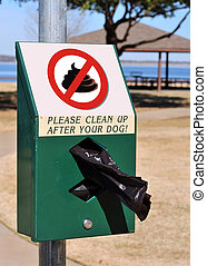 No Dog Poop In Park. - No poop in park sign.