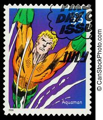 United States Superhero Postage Stamp - United States -...