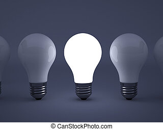 lightbulb - High resolution image 3d rendered illustration...