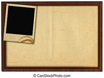 frame and stained photo - wooden frame and stained photo...