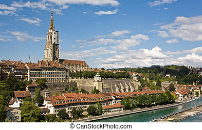 Berne - Capitol of switzerland - Muenster - Church from...