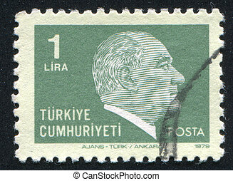 Kemal Ataturk - TURKEY - CIRCA 1979: stamp printed by...