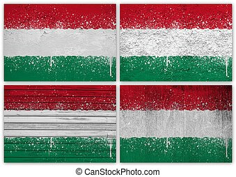 Hungary flag collage
