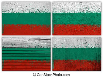 Bulgaria flag collage